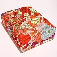 きれいな小箱で小物の整理収納に ちりめん文庫箱(中)赤