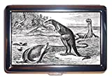 恐竜Victorian Scary図:ステンレススチールIDまたはCigarettesケース( Kingサイズまたは100mm )