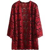 Women Lace Shrug Cardigan Open Front Crochet Bolero Jacket