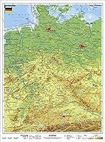 Deutschland, physisch 1 : 1 100 000. Wandkarte Kleinformat ohne Metallstaebe