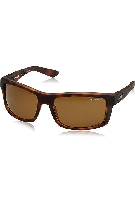 Arnette Mens Booger Polarized Rectangular Sunglasses MATTE BLACK 61.0 mm 0AN4234