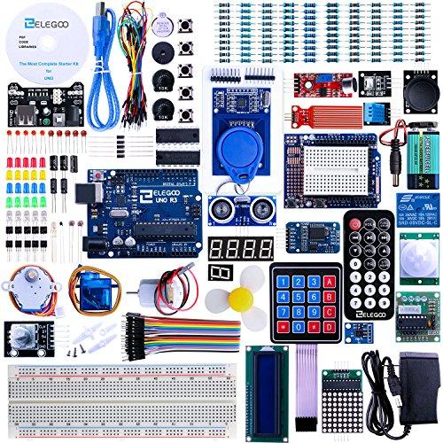 Elegoo UNO R3 最終版キット Arduino UNO用チュートリアル付 (63 Items)