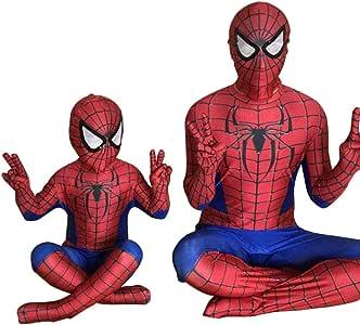 スパイダーマン 全身タイツ 弾力と伸縮性あり ライクラ 赤 子供用 大人用 120-130cm コスチューム コスプレ衣装  仮装 変装 誕生日 プレゼント ハロウィン イベント
