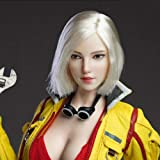 HiPlay 1/6 Scale Female Figure Head Sculpt, Beuty Charming Girl Doll Head for 12 Inch Action Figure TBLeague JIAOUDOLL (Recom