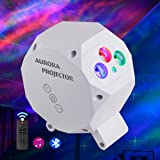 Star Projector Night Light Laser Aurora Lighting with Built-in Bluetooth Speaker and Remote LED Nebula Cloud Galaxy lamp for