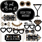 Bride Tribe - Bachelorette Party Photo Booth Props Kit - 20 Count