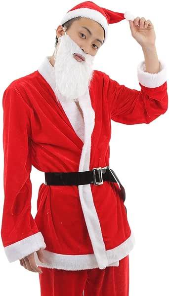 Dawdy サンタ コスプレ クリスマス 衣装 メンズ フリーサイズ