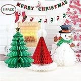 BTSD-home Christmas Decorations Paper Christmas tree Christmas hat snowman Merry Christmas Bunting Banner Flag Christmas Party Decoration(Merry Chritmas Letters+ Elk) [並行輸入品]