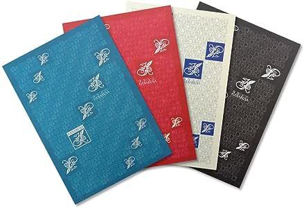 HANABUSA(はなぶさ) B6 TO DO LIST 4色アソート(ターコイズブルー、レッド、ホワイト&ブルー、ブラック 各色1冊 合計4冊セット)