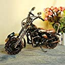 Once ZY Time ハンドメイド アンティーク調 ヴィンテージ バイク オートバイ ブリキ製 ミニチュア アメリカン雑貨 飾り インテリア プレゼント 3種類選択可能 (A)