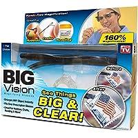 ビッグ ビジョン BIGVision 拡大鏡 1.6倍 眼鏡の上から使える 軽量 収納袋付 [並行輸入品]