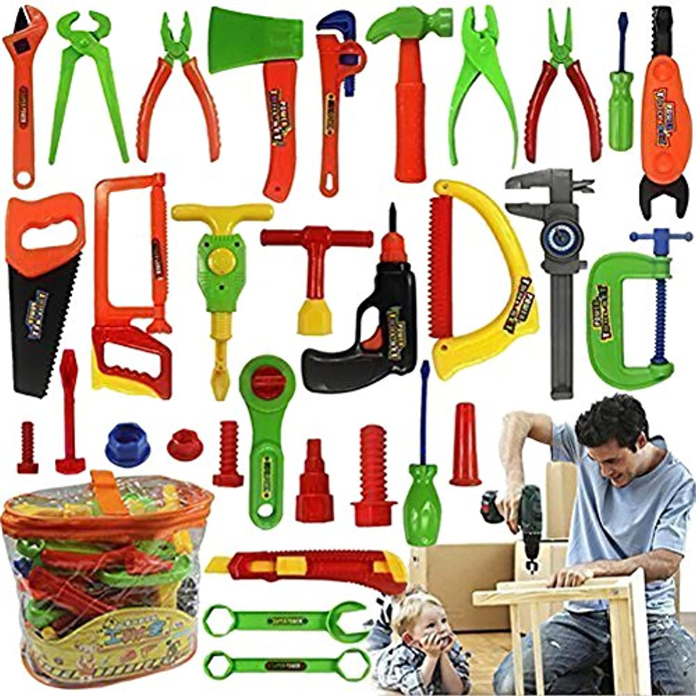 (トイホーム)Toy home子供 大工さん 修理工具  34個セット