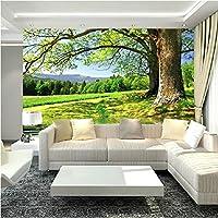 Sproud 大規模な 3 D の壁画壁紙大きいのによって川の景色 Videowall リビングルームのソファ、ベッドルームのテレビの背景 3 D 壁紙 300 Cmx 210 Cm の木
