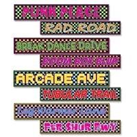 Beistle 54160 4 -パック80 's Street Sign Cutouts、4インチby 24インチ