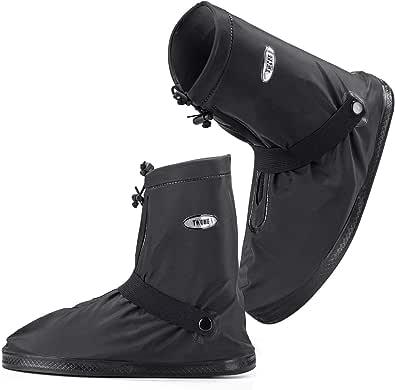 [トゥワォン] シューズカバー レインカバー 防水 靴カバー レインブーツ 雨 雪 泥避け 男女兼用 携帯可 靴保護 梅雨対策 台風対策 通勤通学 自転車 バイク用 お手入れ簡単 滑り止め 軽量 サイズ:M~XXXL (XXXL(27~28.5))