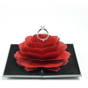 リングケース グレース メタルケース スペースグレー 赤花