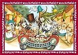 108ピース ジグソーパズル プリズムアート わちふぃーるど パレードのお通り (18.2x25.7cm)