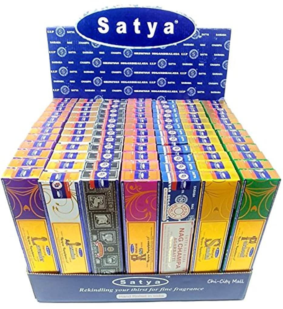 挑発する心配優先chi-city Mall (7-pack/105g) – Satya Nag Champa Incense Sticks |詰め合わせギフトセットシリーズ| hand-rolled Agarbatti | Sai Baba...