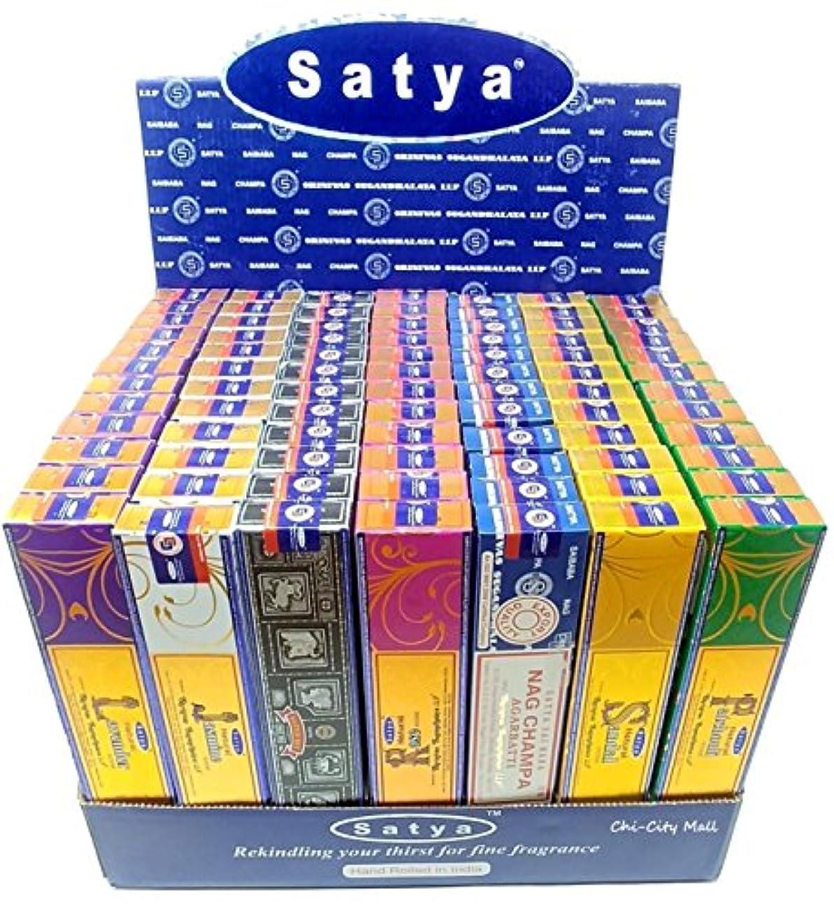 詳細な私たち自身明らかにするchi-city Mall (7-pack/105g) – Satya Nag Champa Incense Sticks |詰め合わせギフトセットシリーズ| hand-rolled Agarbatti | Sai Baba...