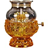 KMYX Oil Lamps for Indoor use with Glass Crystal Glass Lotus Light Holder Home Buddha Front Light Kerosene lamp Ultra Pure Pa