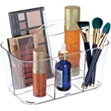 mDesign Cosmetic Organizer Tote for Vanity Cabinet to Hold Makeup Beauty Products - Small Clear