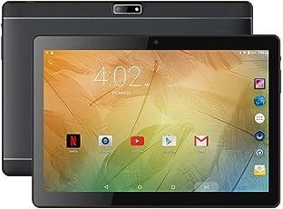 BENEVE 10.1インチAndroidタブレット、IPS 1920x1200タッチスクリーン搭載のAndroid 7.0 Nougat WiFiタブレット、2GB RAM + 16GB ROM、Bluetoothおよび2.0 + 5.0MPデュアルカメラ - ブラック
