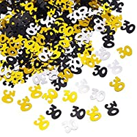Shappy Number 30 Glitter Confetti for 30th Birthday Anniversary Party Supplies Table Decoration,50 g (1.76 Ounce) [並行輸入品]