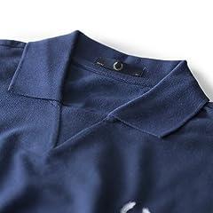 Laurel Wreath Rib Insert Pique Shirt M8150: French Navy