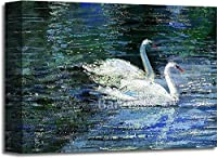 Two Swans Gallery キャンバスアート(27.94cm ×14インチ)。