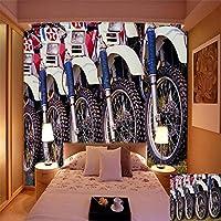 Mbwlkj 写真の壁紙3Dホイールの背景壁寝室リビングルームホテルレストランコーヒーハウス壁紙壁画-200cmx140cm