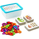 LiKee Alphabet Number Flash Cards Wooden Letter Puzzle ABC Sight Words Match Games Animal Counting Board Preschool Educationa
