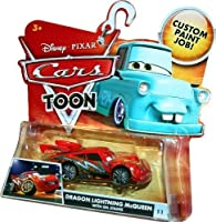 Disney / Pixar CARS TOON 155 Die Cast Car Dragon Lightning McQueen with Oil Spill [並行輸入品]
