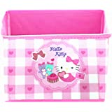 Kerr's Choice Collapsible Fabric Cube Storage Bin Hello Kitty Foldable Baskets | Hello Kitty Office Desk Room Decoration Hell