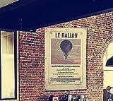 OYGROUP ホットエアバルーンズ 気球 亜麻布にプリント ポスター 60cmx90cm