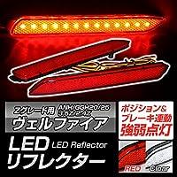 ヴェルファイア 20系 Zグレート用 ANH/GGH20/25 LEDリフレクター スモールポジション&ブレーキ連動(クリア)