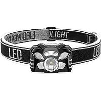 LEDヘッドライト USB 充電式 小型軽量 防水 センサー機能付き 明るい400ルーメン ヘッドランプ 登山 釣り用 ランニング 作業用 ヘルメット ライト へっとライト