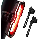 DON PEREGRINO 110 Lumens Powerful LED Rear Bike Light, Rechargeble Bicycle Tail Light with Multiple Modes for Night & Daytime