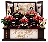 雛人形 久月 ひな人形 雛 コンパクト収納飾り 三段飾り 五人飾り ワイン塗 舞扇 ピンク刺繍 束帯十二単 h283-kcp-s28220nr