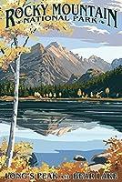 Longsピークand Bear Lake Fall–ロッキーマウンテン国立公園 9 x 12 Art Print LANT-33634-9x12