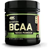 Optimum Nutrition Instantized BCAA Powder, Keto Friendly Branched Chain Essential Amino Acids, 5000mg, Fruit Punch, 40 Servin