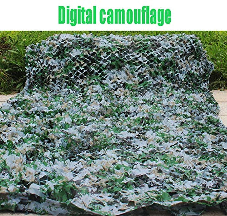 さわやかスカルク神2m×3mオックスフォードサンズデジタルジャングル迷彩ネット雪の海迷彩ネット、狩猟射撃隠すキャンプ、屋外の写真デコレーション、キャンプの避難所 (色 : Digital, サイズ さいず : 6×10m)