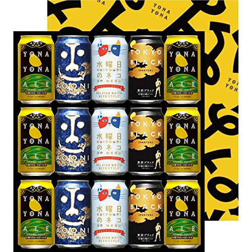 【Web限定】【お中元】よなよなエール 水曜日のネコ インドの青鬼 東京ブラック 飲み比べ 4種15缶 金賞ギフト クラフトビール ヤッホー