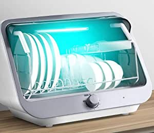 家庭用デスクトップミニ滅菌器、35Lのサイドボード、高温食器乾燥機、45分タイマー、抗誤動作機能、セラミック食器収納キャビネット