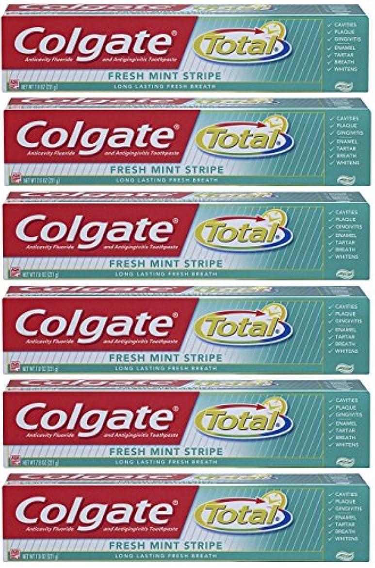 香り大きさ成長するColgate 総フレッシュミントストライプジェルハミガキ - 7.8オンス(6パック) 6オンス(6パック) フレッシュミント