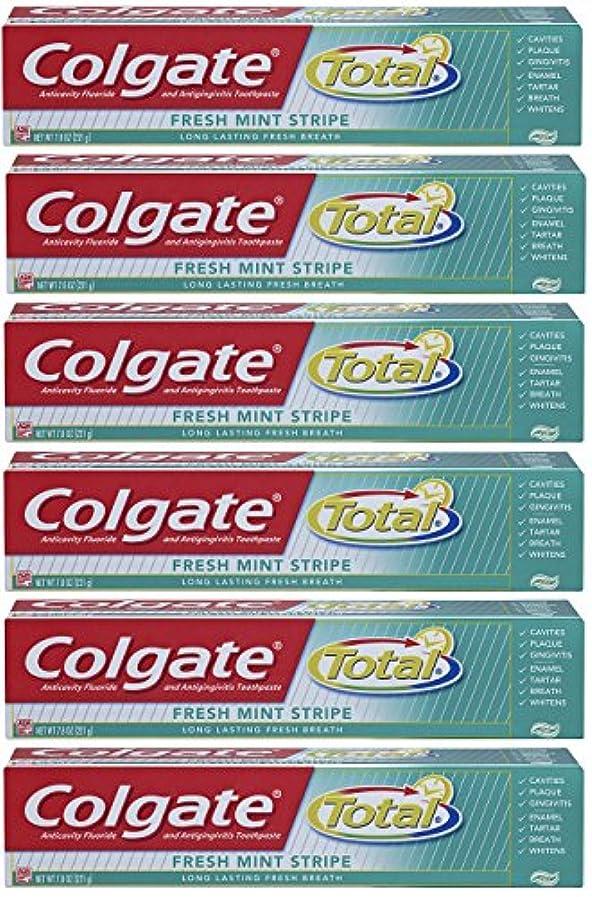 スタッフマージ人気のColgate 総フレッシュミントストライプジェルハミガキ - 7.8オンス(6パック) 6オンス(6パック) フレッシュミント