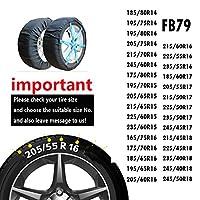 ATLI 非金属タイヤチェーン ジャッキアップ不要 スノーチェーン 車 雪道 布製タイヤチェーン スノーソックス タイヤチェーン (SC-FB79)