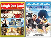 Laugh with Kevin 4 Movie James DVD Collection Happy Comedy Movies Paul Blart Mall Cop & Grown Ups/Zookeeper + Here Comes the Boom Comedy Man Feature Bundle【DVD】 [並行輸入品]