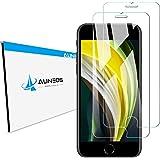 『iPhone SE 第2世代 (2020)独創設計改良』AUNEOS iPhone SE (第二世代) 用 フィルム iPhone SE 2020 専用設計 ガラスフィルム 日本製旭硝子材 触感タッチ対応 iphone 8/7/6兼用 硬度9H 指