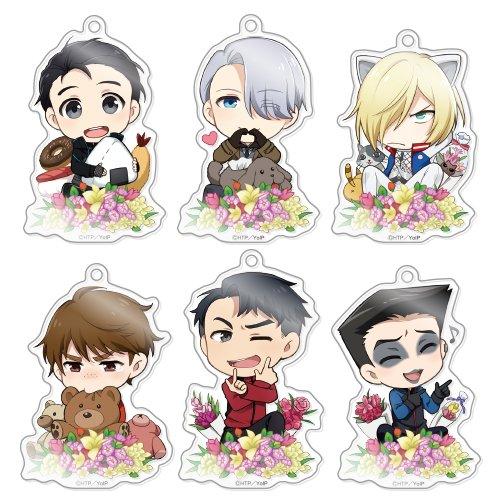 きゃらふぉるむ ユーリ!!!on ICE アクリルストラップコレクション Vol.3 BOX商品 1BOX = 6個入り、全6種類