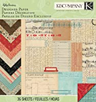 K&Company Designer Paper Pad, Kelly Panacci Eclectic, 12 by 12-Inch by K&Company